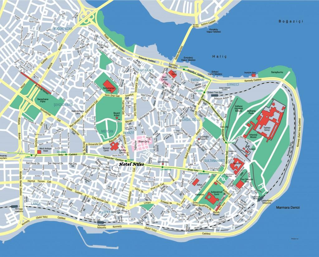 0 sultanahmet map