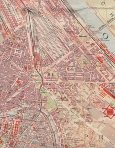 1925 Stadtplan Praterstern crop