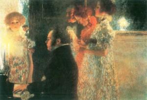 Klimt Schubert at the Piano lo