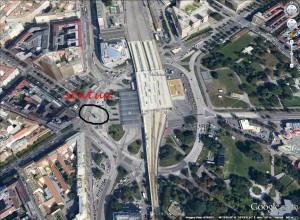 Praterstern google earth lo
